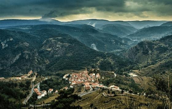 panorámica de Linares de Mora