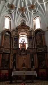 retablo altar monasterio santa maria virgen del olivar