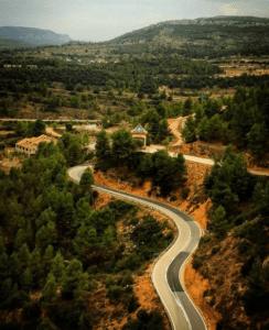 ruta motera bajo aragon