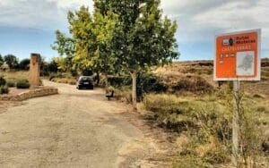 cartel ruta motera en castelserás