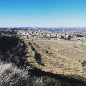paisaje de valdealgorfa en el bajo aragón