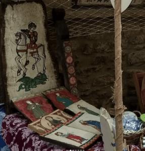 puesto de venta en feria medieval rubielos de mora