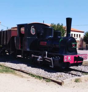 antiguo tren en ojos negros