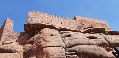 situación castillo de peracense en las rocas
