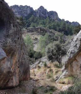 sendero pozo del salto en Molinos
