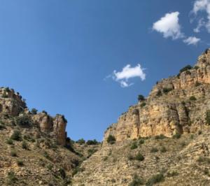 paisaje rocas acueducto Gea de Albarracín